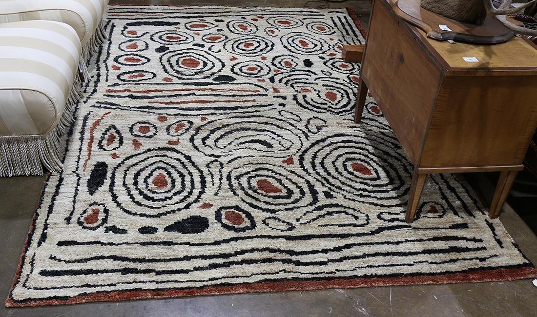 Mid Century style hand made carpet