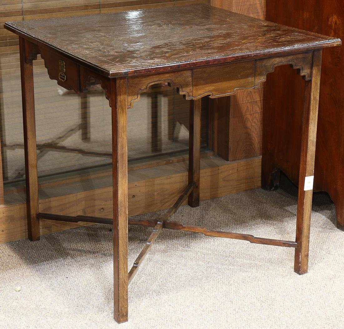 Chinoiserie decorated games table, having a rectangular - 2