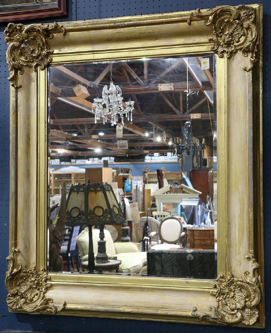 Rococo style framed mirror