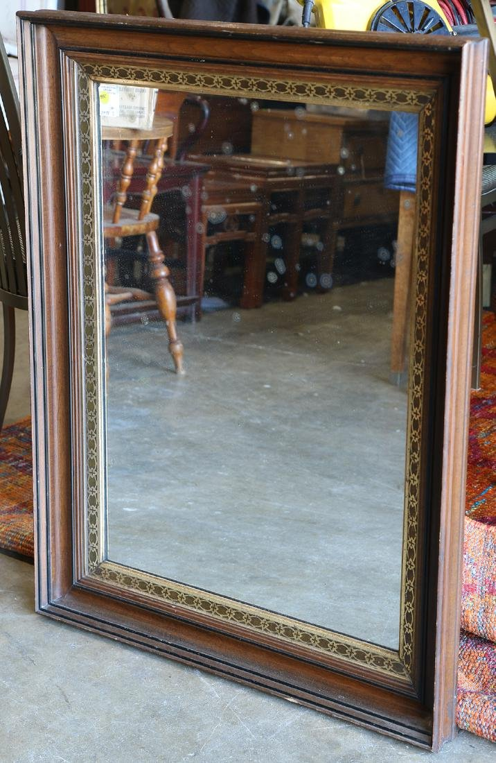 Federal style framed mirror, having parcel gilt