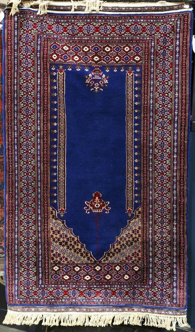 """Persian Tabriz prayer rug, 5'2"""" x 3'2"""""""