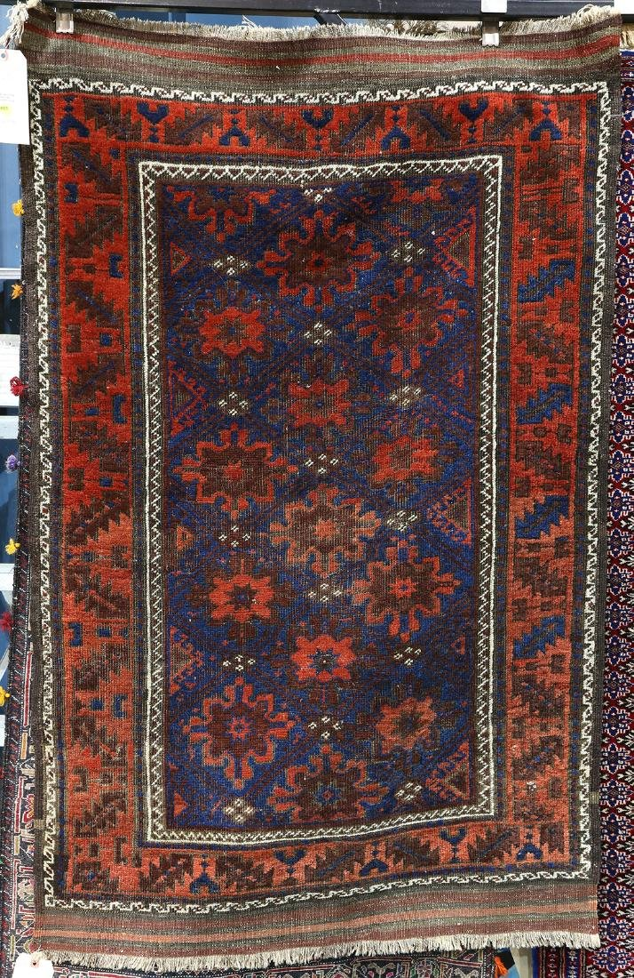 Afghan Belouch carpet, 3' x 4'7""