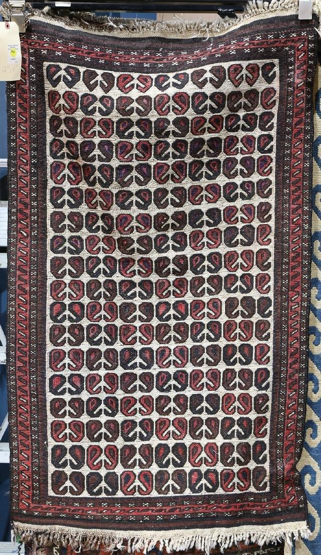"Afghan Soumak carpet, 4'2"" x 2'6"""