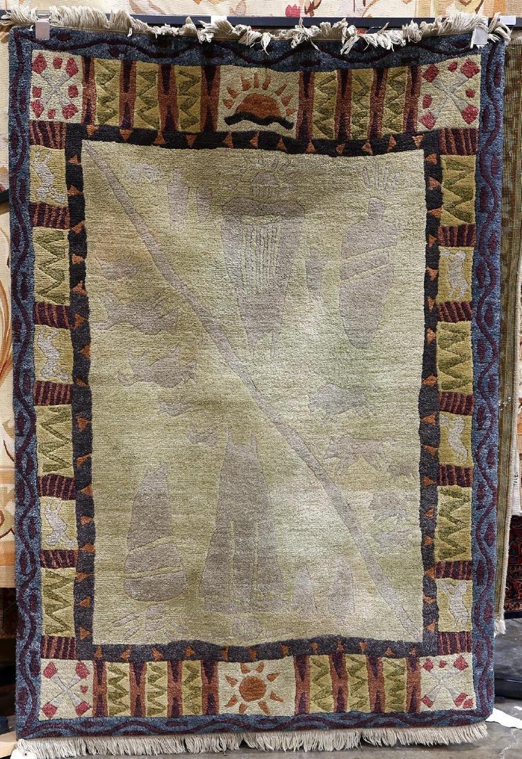 "Modern Nepalese rug, 5'11"" x 3'11"""