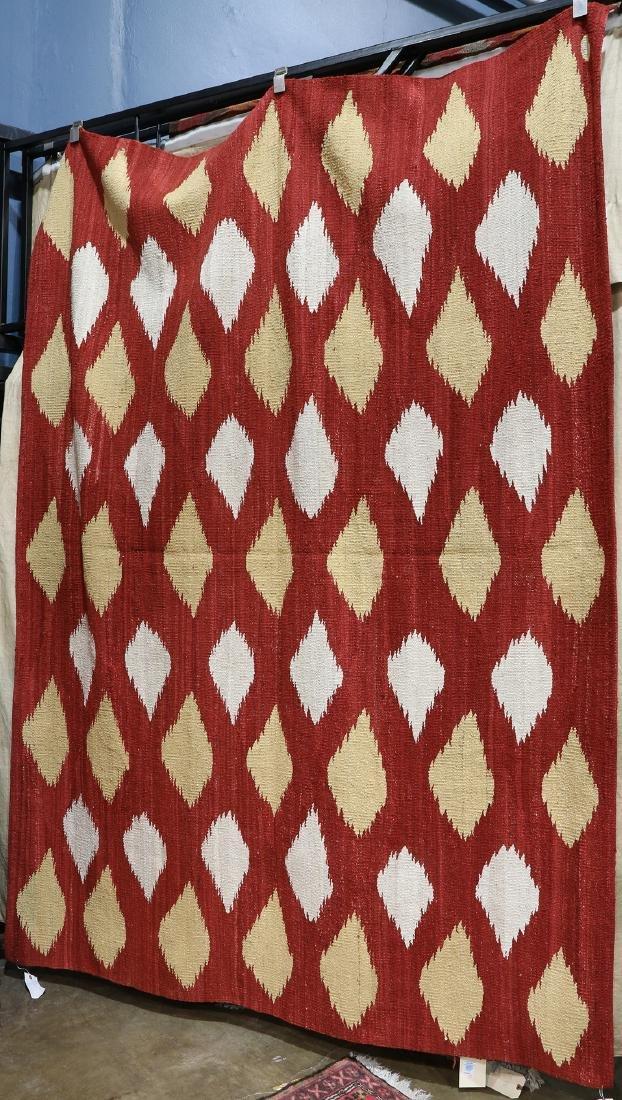 "Indo Modern flatweave carpet,  6 x 8'1"""