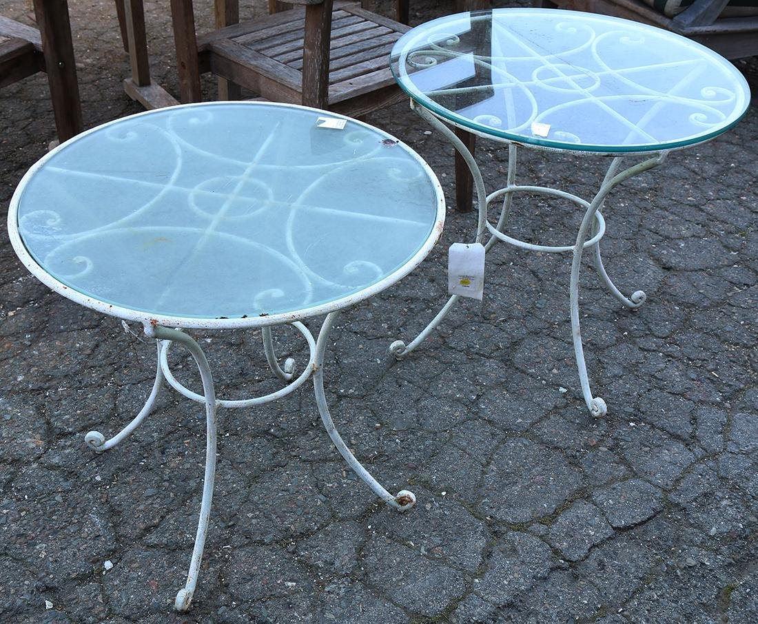 (lot of 2) French bistro style occasional tables