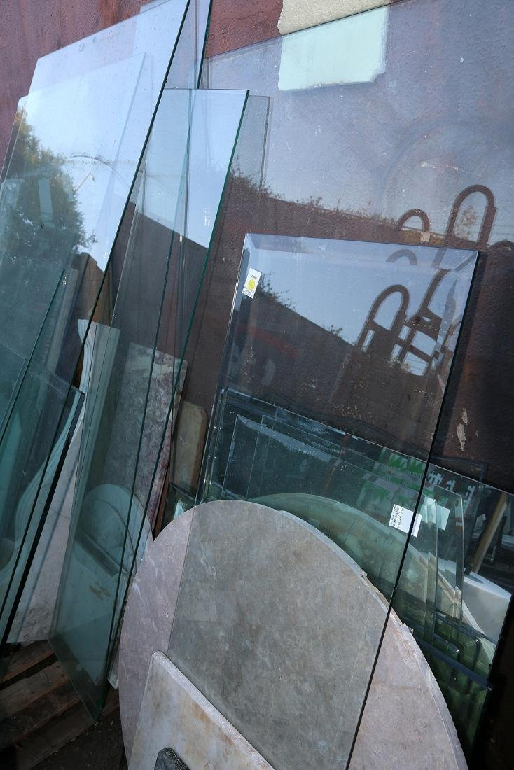 Large collection of glass table tops
