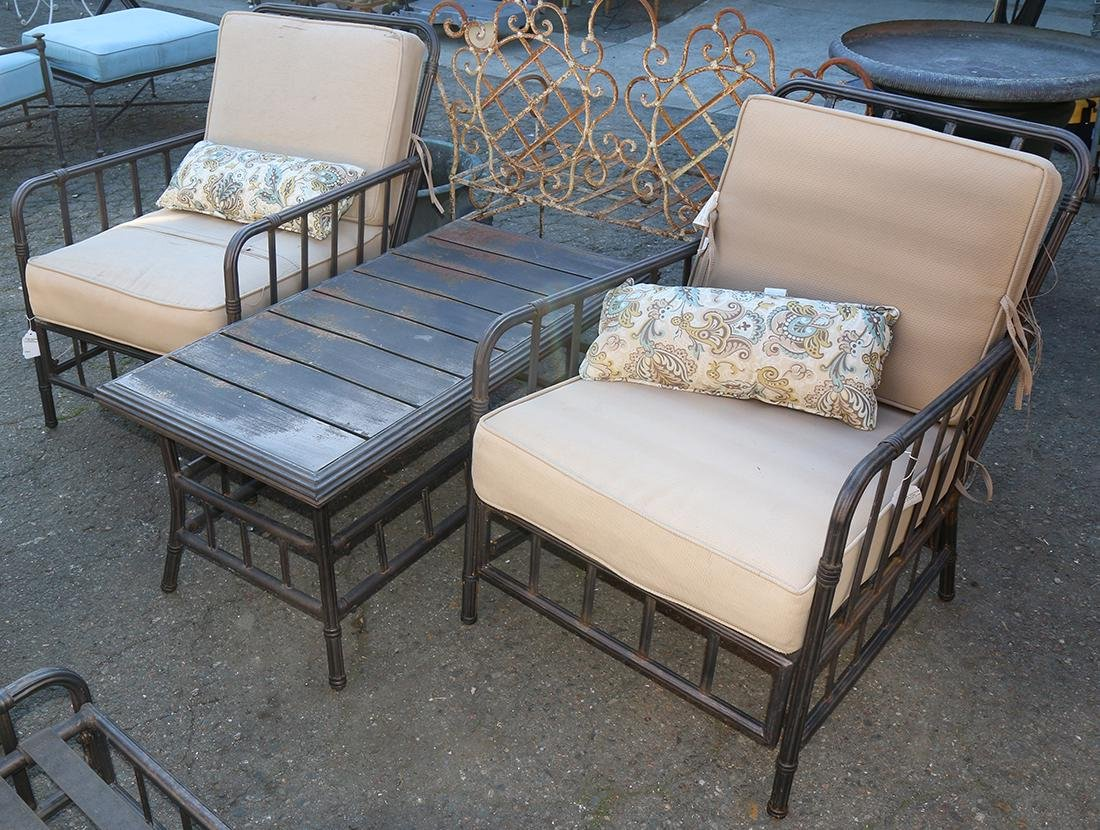(lot of 7) Patio furniture suite by Martha Stewart