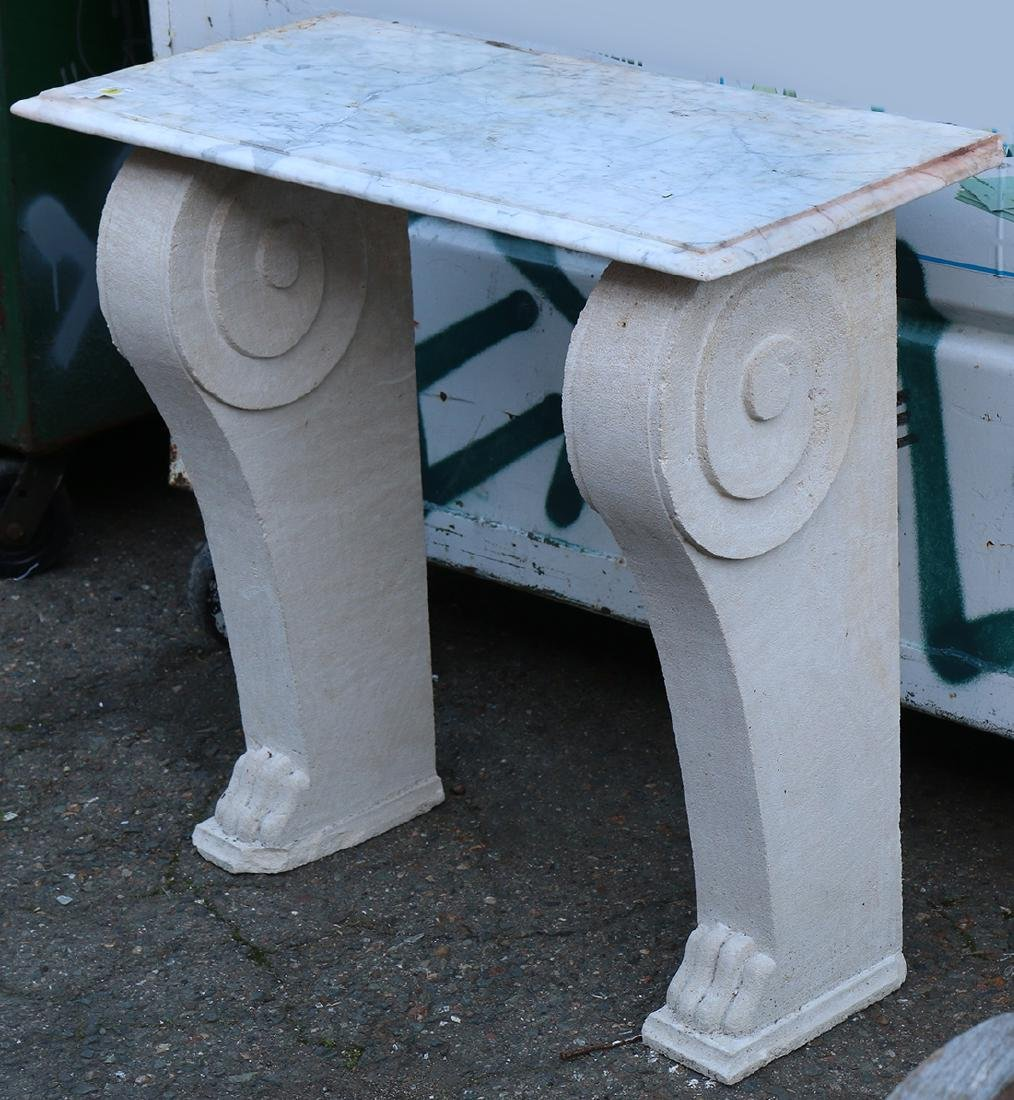 Rococo style outdoor console table