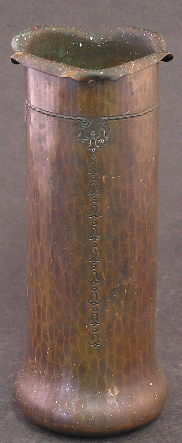 21: Arts & Crafts Roycroft hammered copper vase
