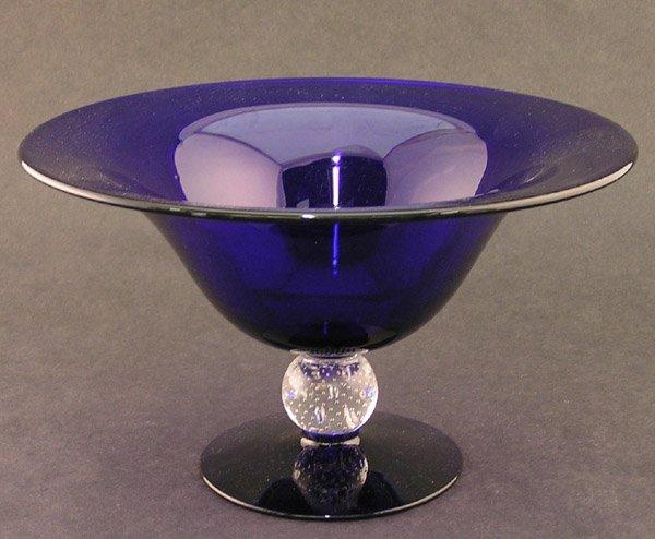 2023: Cobalt blue glass center bowl