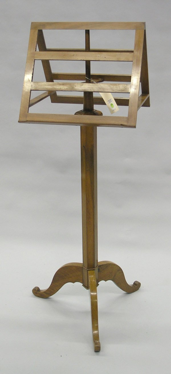 2139: Continental fruitwood music stand