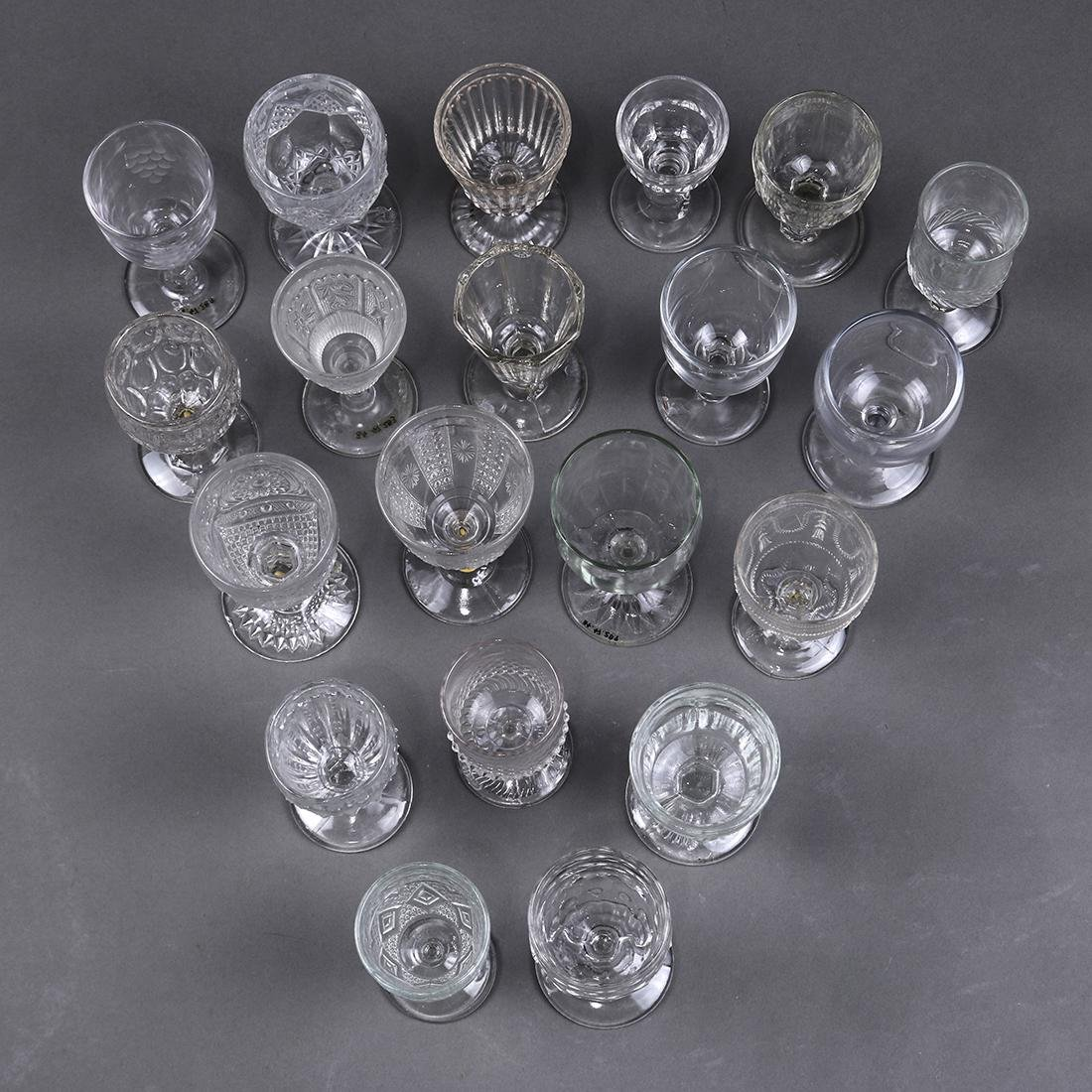 (lot of 20) Early Continental stemware group, late