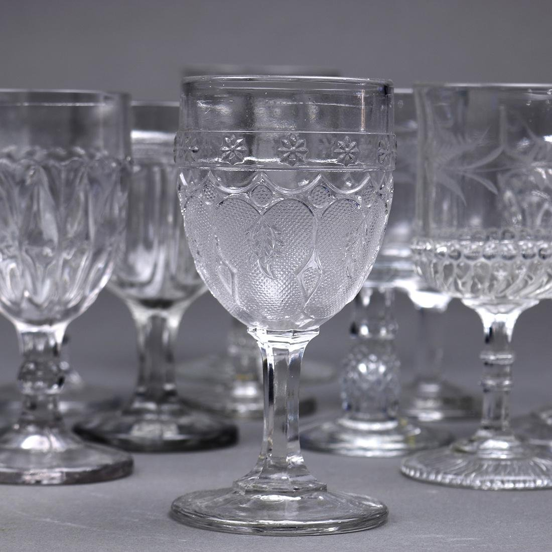 (lot of 13) Early Continental stemware group, late