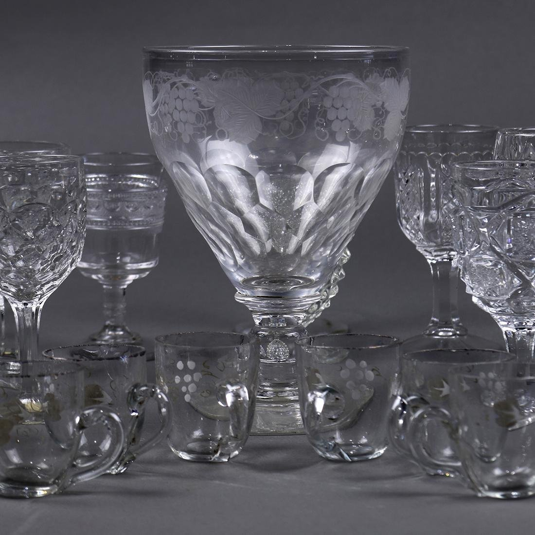 (lot of 19) Early Continental stemware group, late