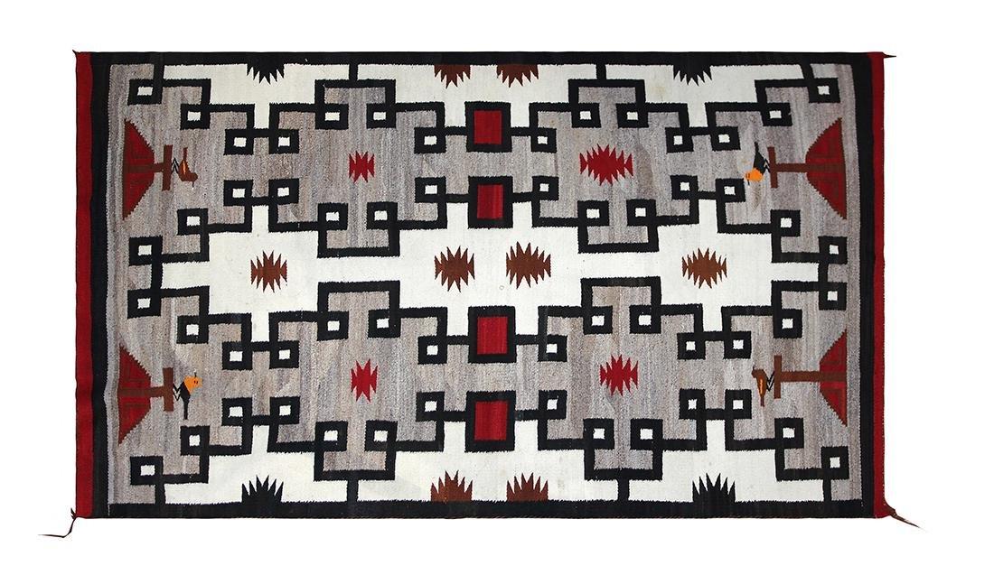 Navajo pictorial rug circa 1930