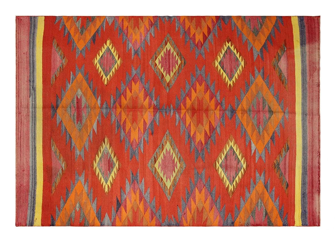 Navajo transitional wearing blanket
