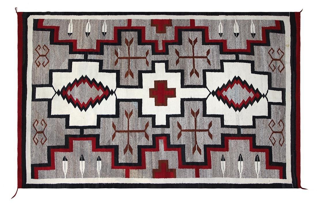 """Navajo Ganado pictorial rug, circa 1930, 4'4"""" x 6'8"""""""