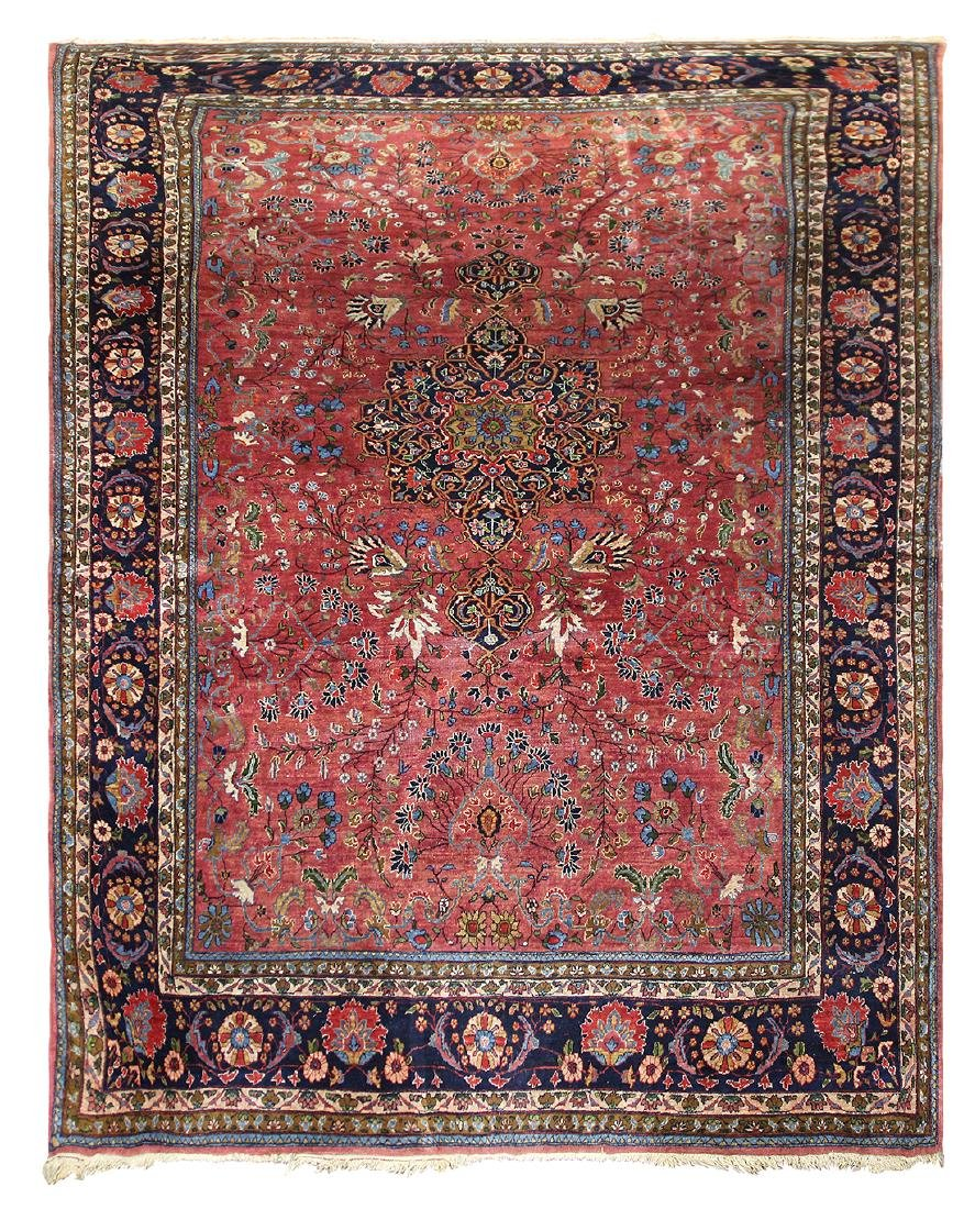 "Antique Persian Tabriz carpet, 8'5"" x 12'6"""