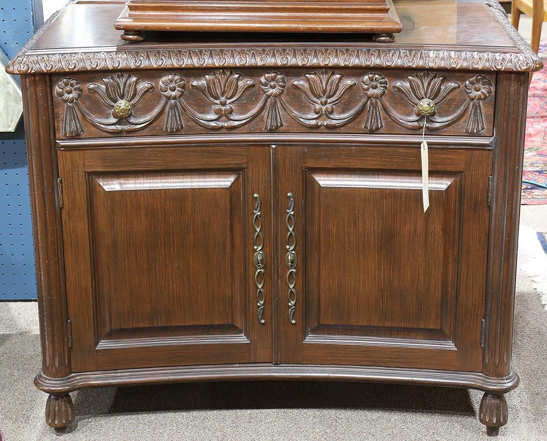 Pair of Renaissance style mahogany commodes