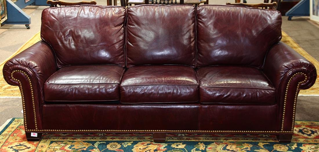 Contemporary Whittemore-Sherrill leather sofa