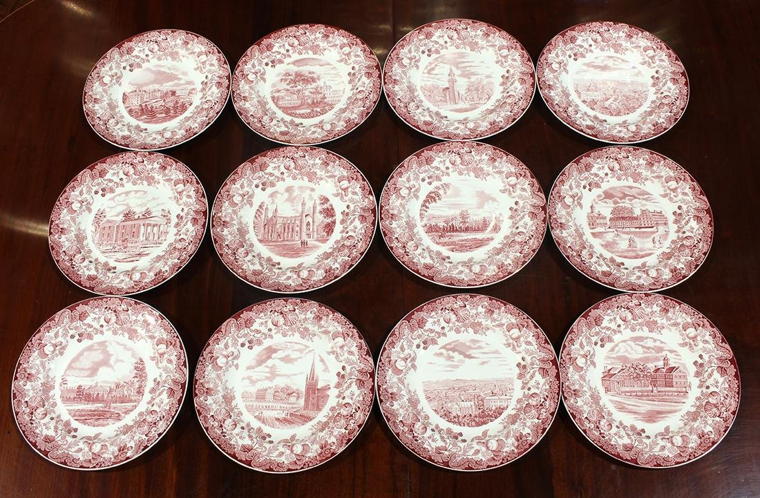 "(lot of 12) Wedgwood ""Harvard"" porcelain dishes"