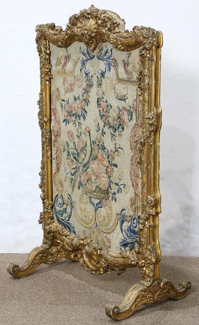 Louis XV style giltwood carved fire screen