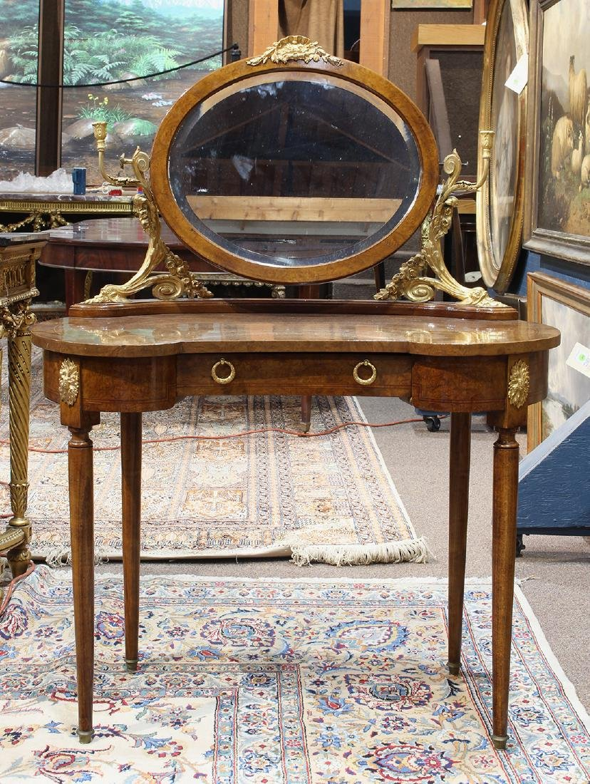 French Neoclassical style ormolu mounted vanity circa
