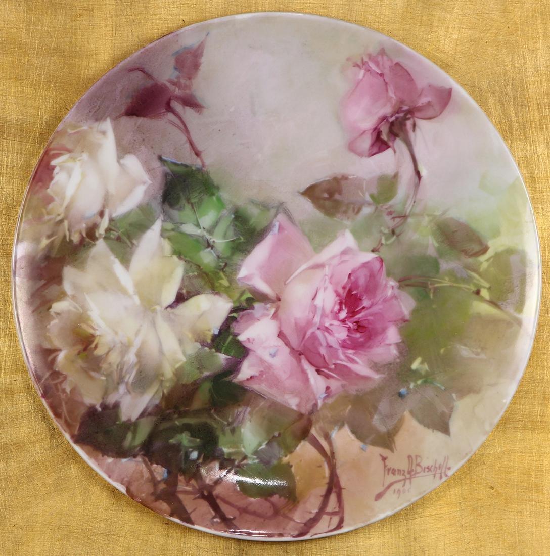 Painted plate, Franz Bischoff