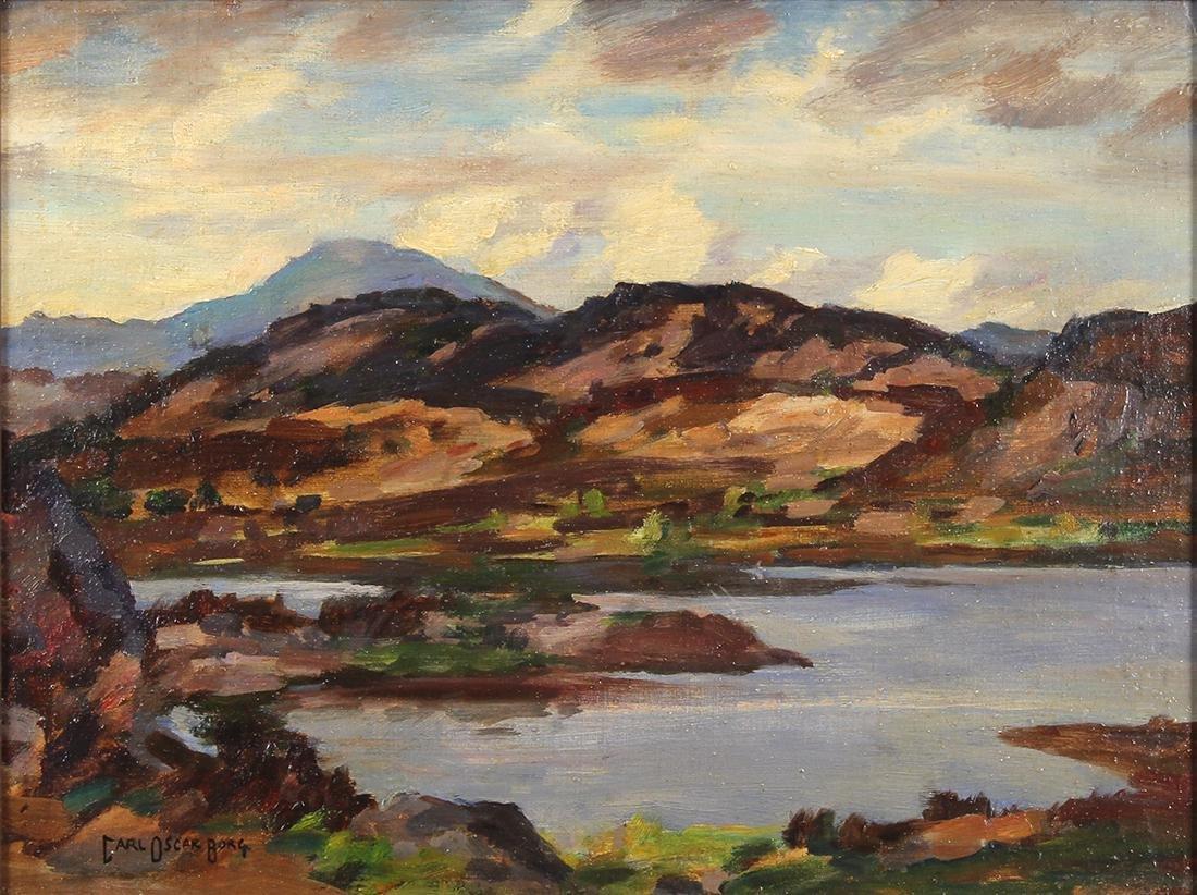 Painting, Carl Oscar Borg