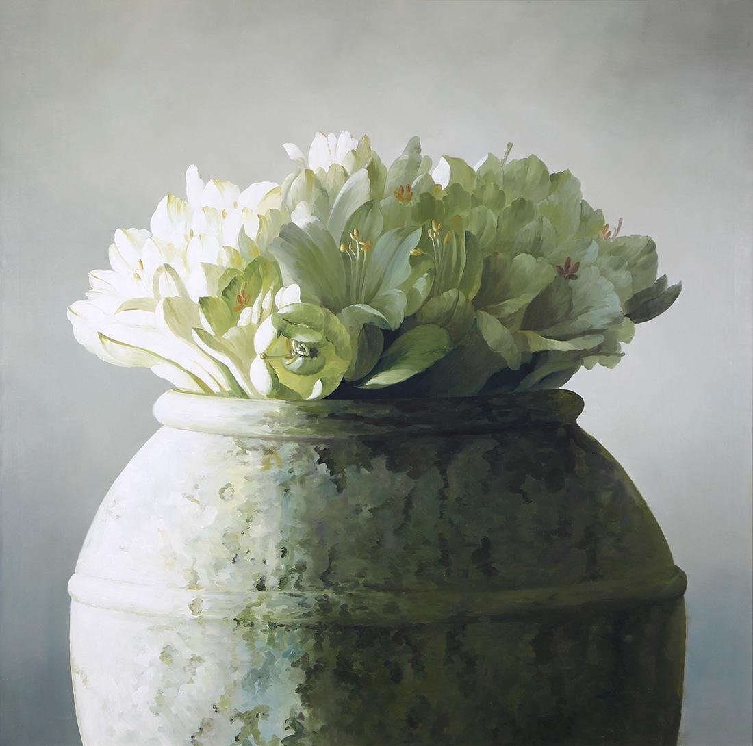 Painting, Bouquet of White Flowers