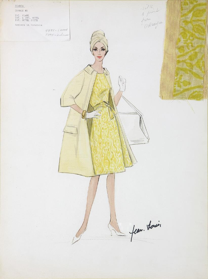 Jean Louis Costume Sketch for Marilyn Monroe's Last