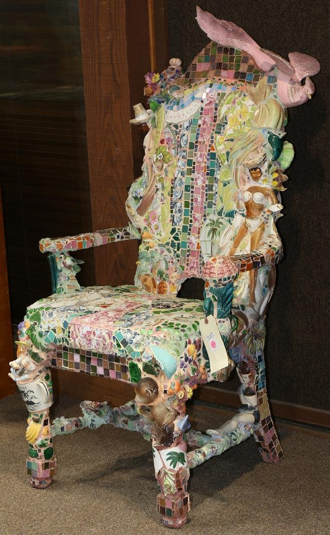 Mixed media chair, Shannon Landis Hansen