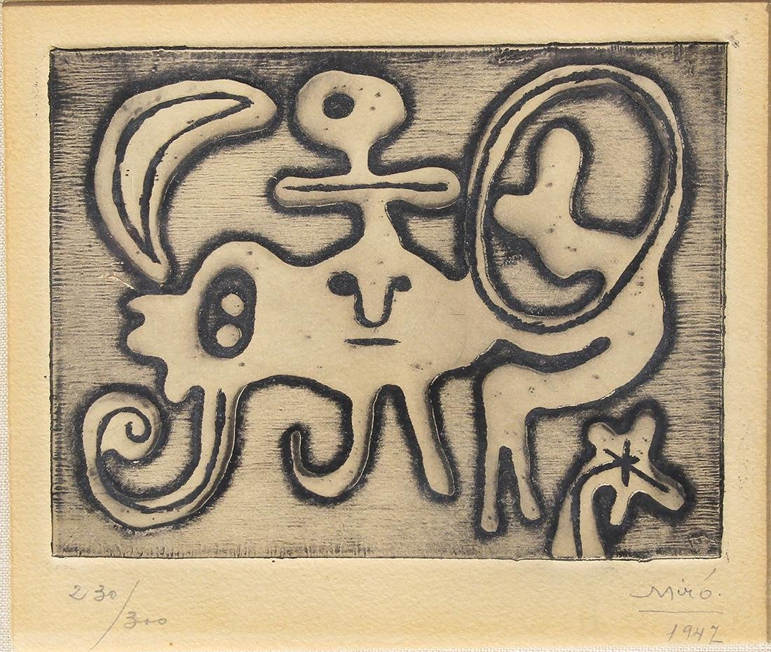 Etching, Joan Miro