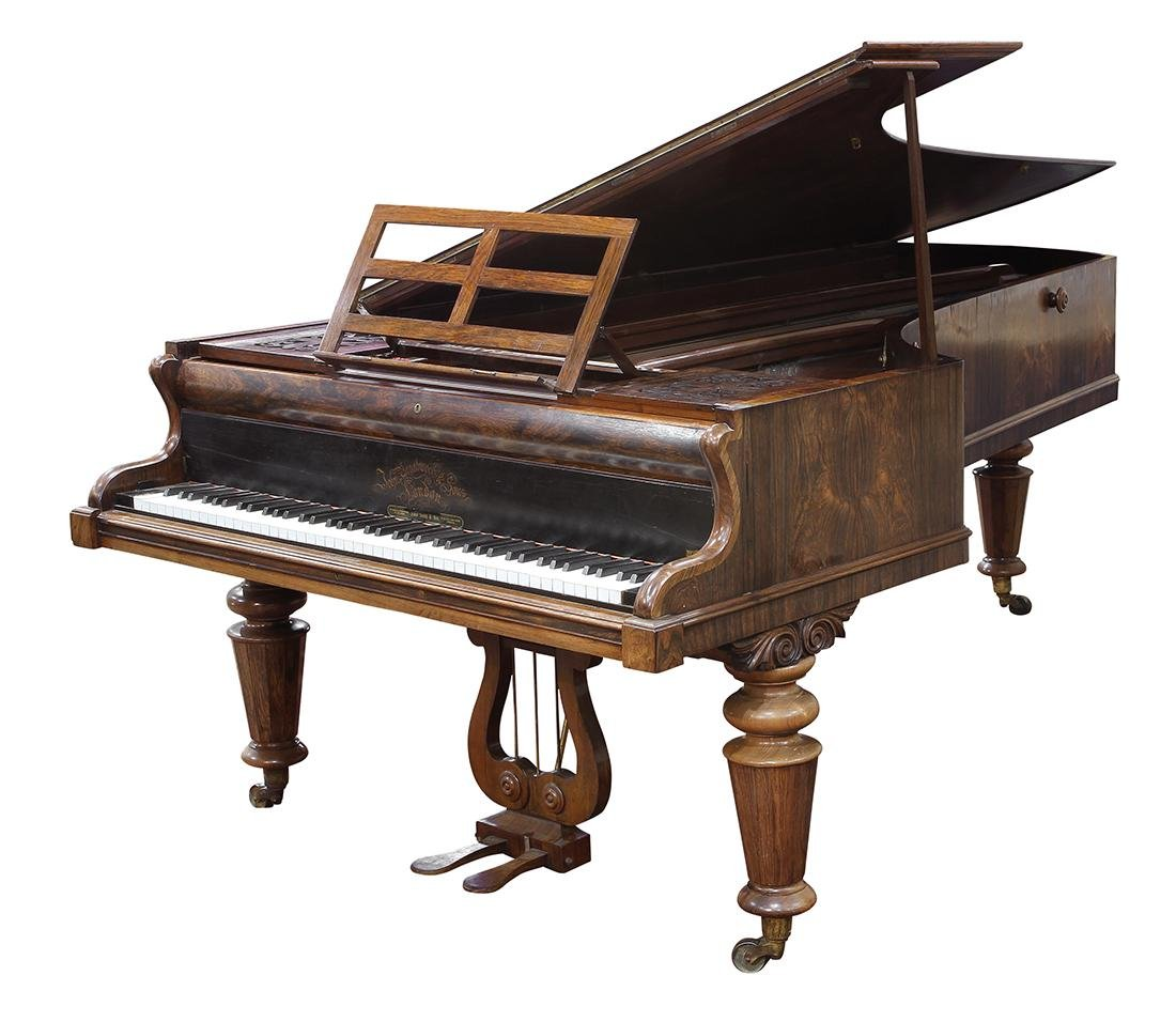 John Broadwood and Sons rosewood grand piano, London