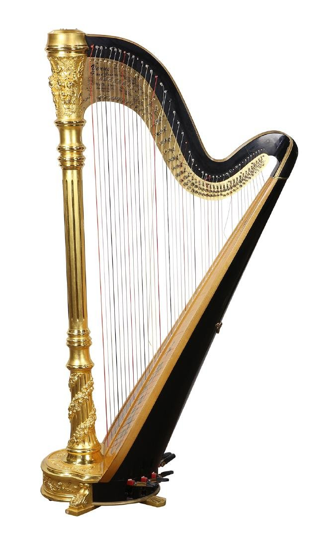 Venus Grand Concert harp model 75, no 1943, the hand