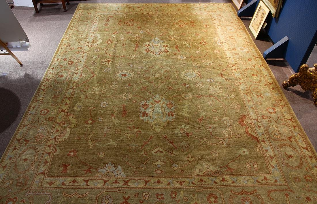 "Palace size Pakistani Oushak carpet 19'7"" x 14'"