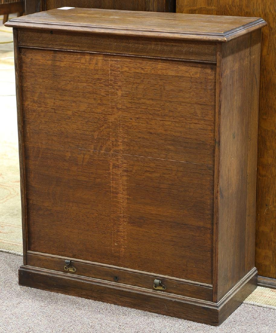 Arts and Crafts oak cabinet