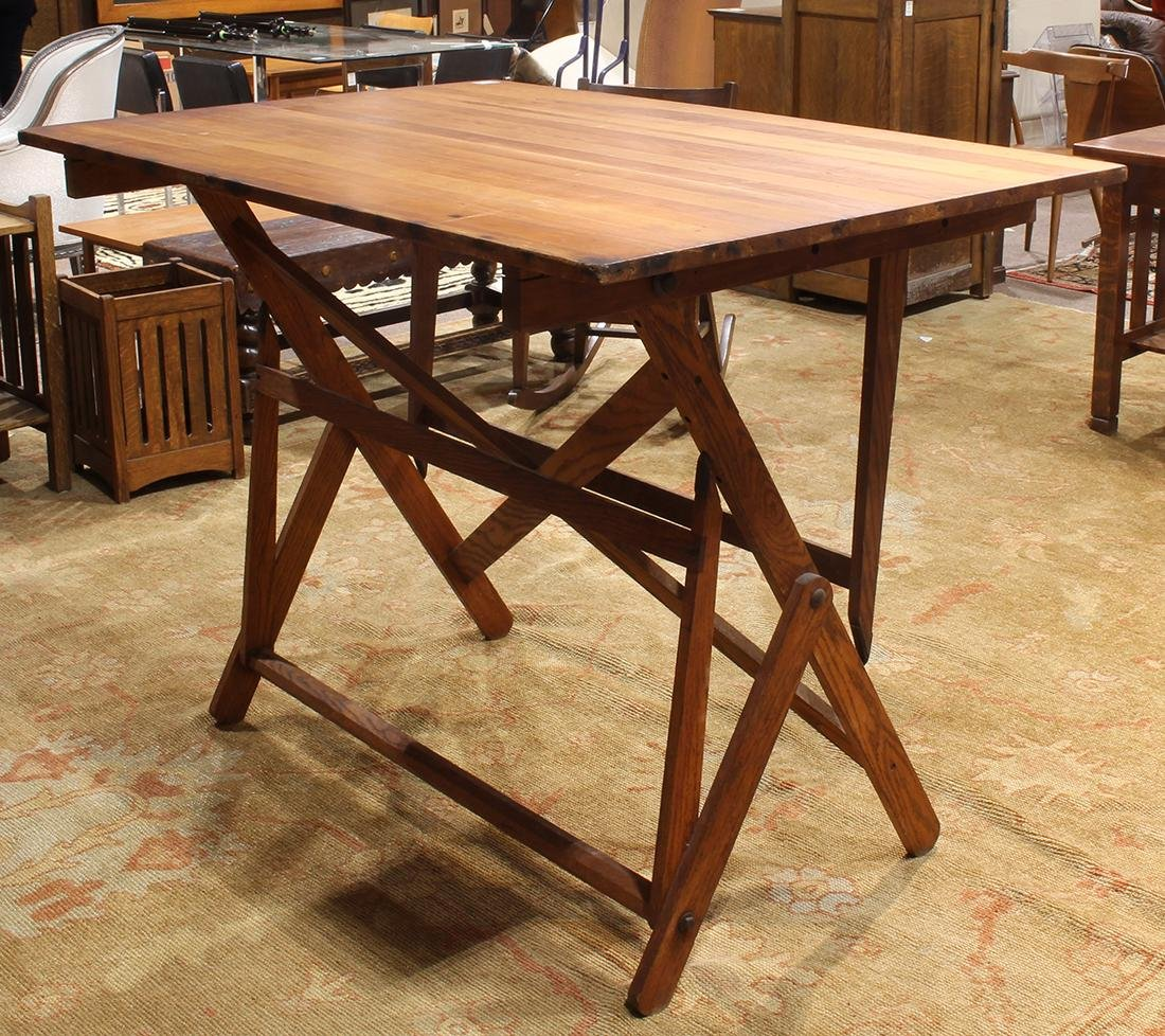 Rustic drafting table