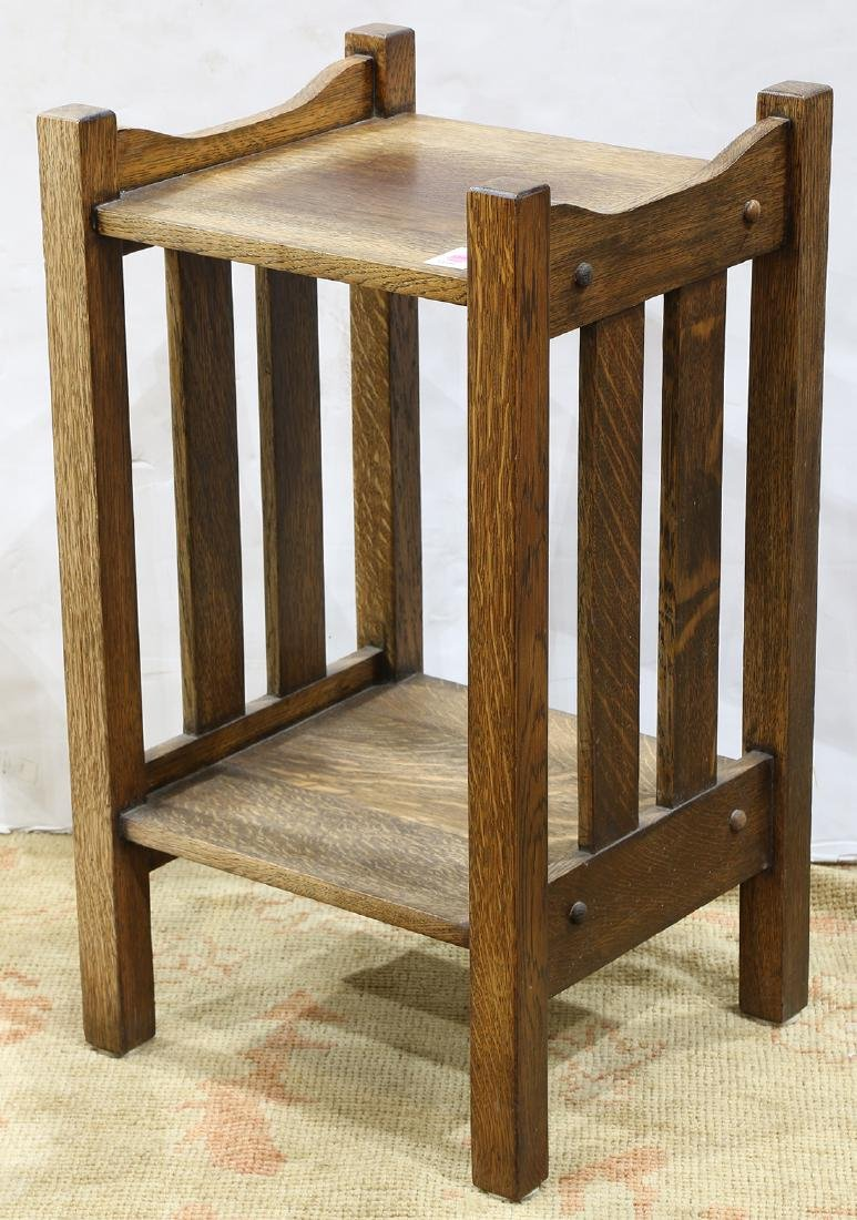 Arts and Crafts quartersawn oak occasional table