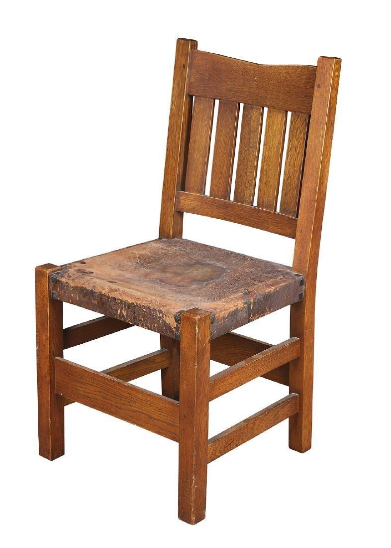 Gustav Stickley V-Back side chair (no. 354 1/2)
