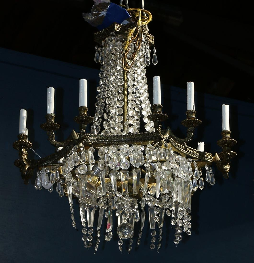 Continental crystal chandelier