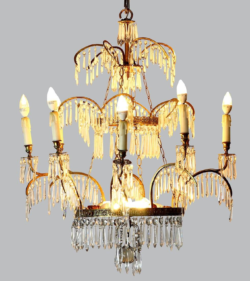 Russian Baltic Neoclassical chandelier