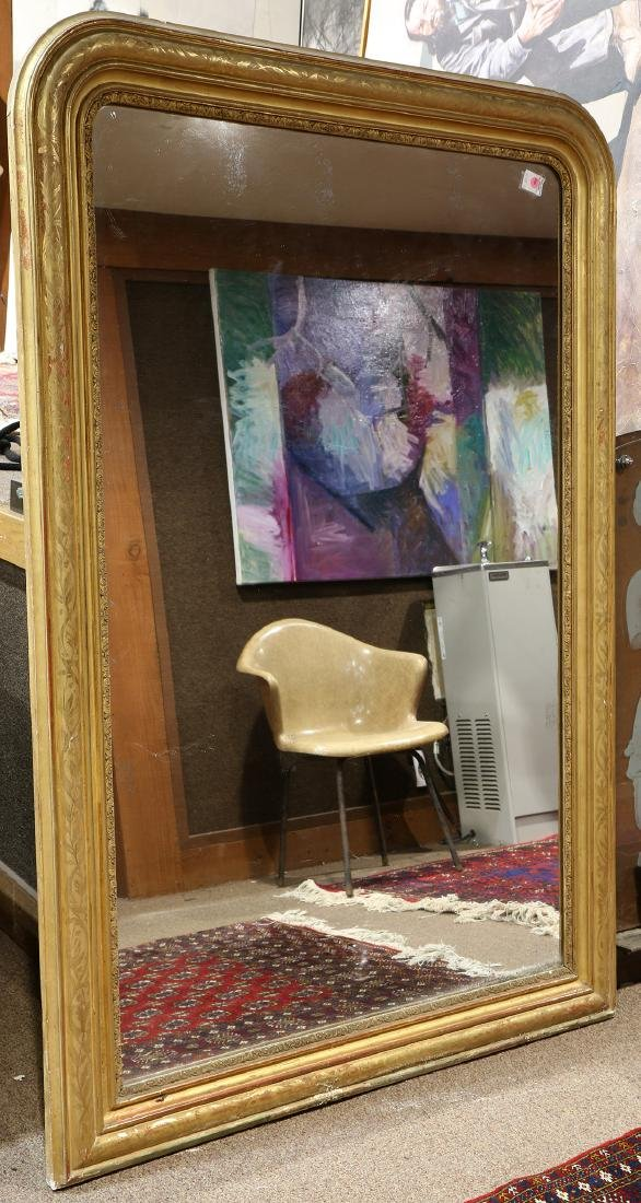 Louis Philippe gilt framed mirror