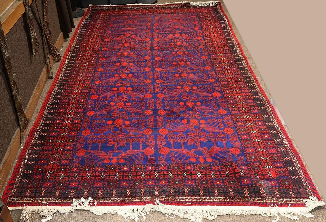 "Uzbek Samarkand carpet, 12'11"" x 6'7"""