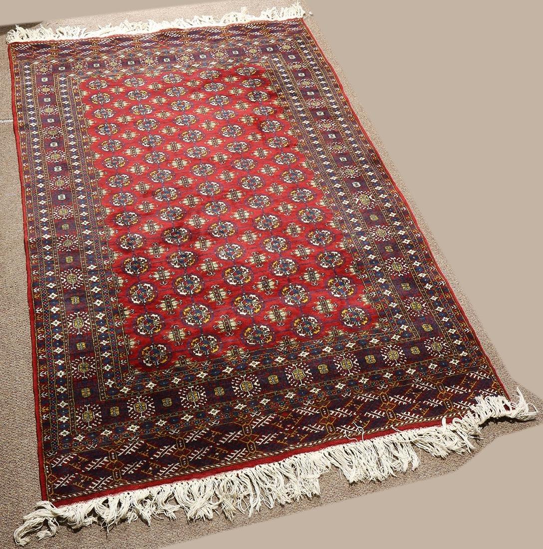 "Pakistani Bokhara carpet, 6'2"" x 4'"