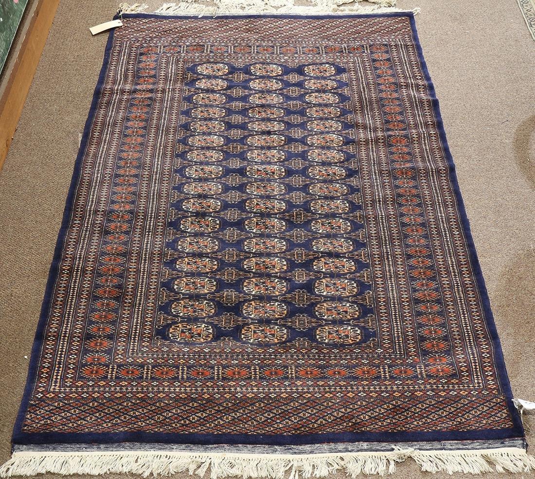 "Pakistani Bokhara carpet, 6'6"" x 4'3"""