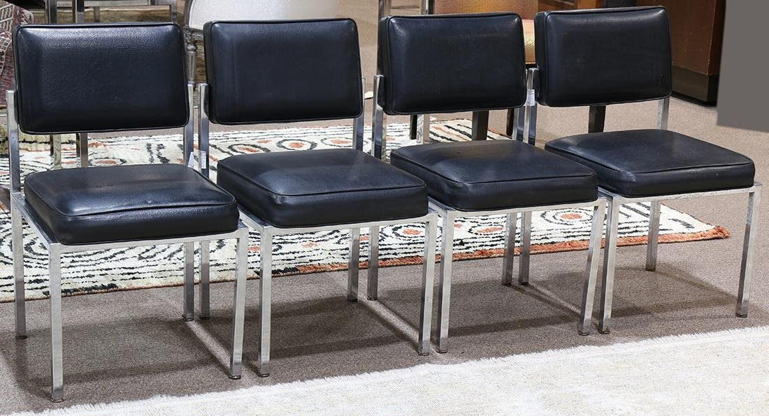 (lot of 4) Italian Moderne style dining chairs