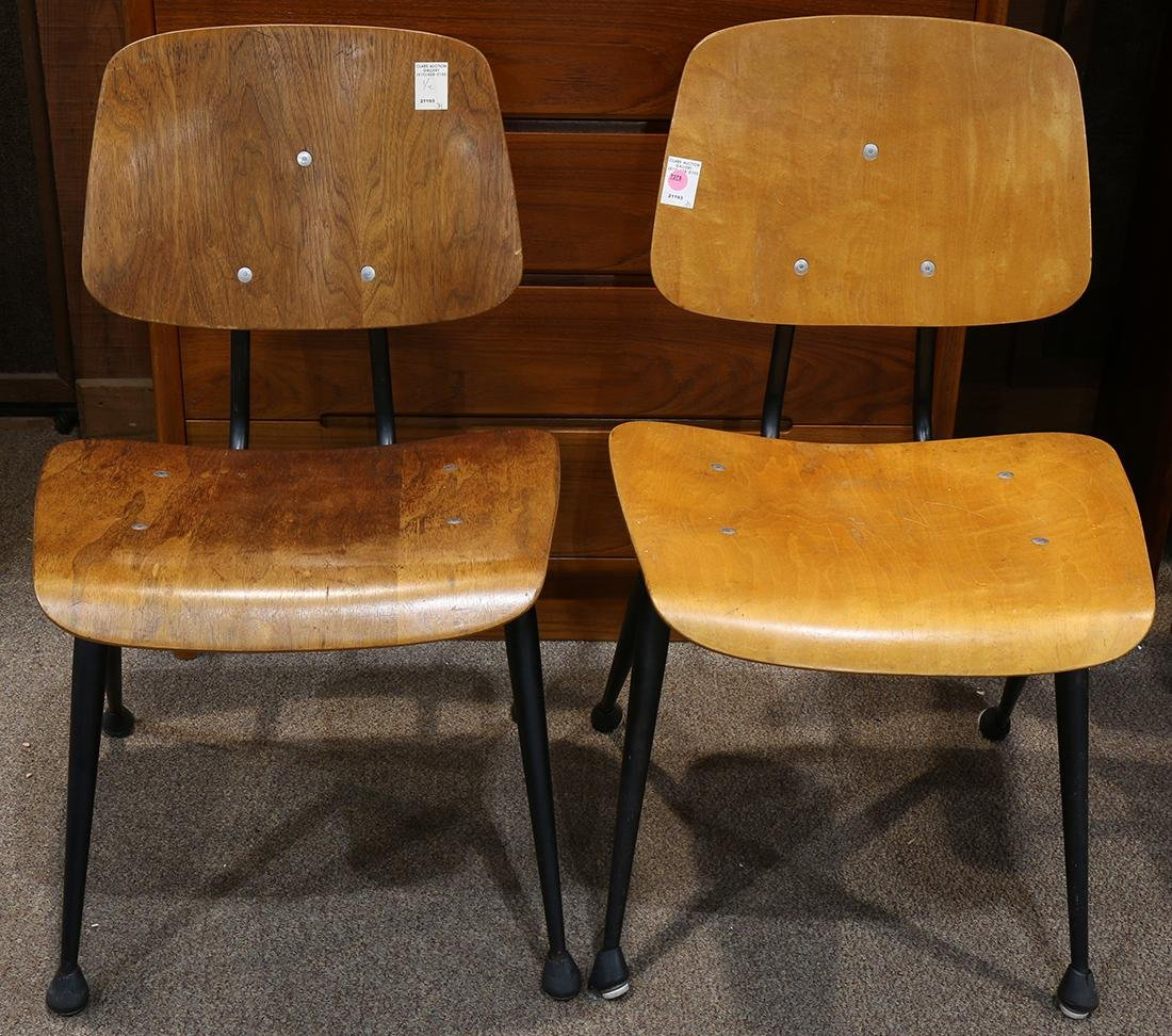 "Pair of Brunswick ""Bowling Alley"" chairs"