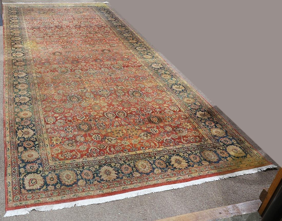 "Pakistani Tabriz style hall carpet, 14'11"" x 6'1"""